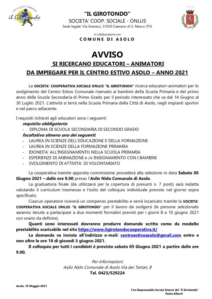 thumbnail of Avviso ricerca educatori 2021 COOP. GIROTONDO
